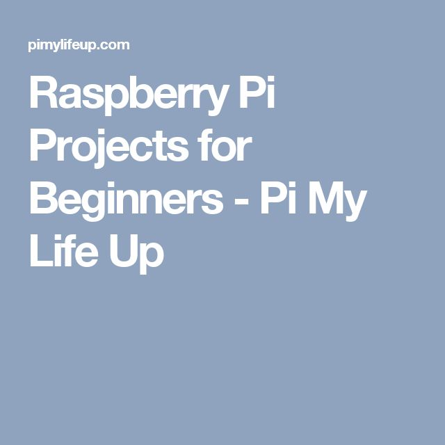 Raspberry Pi Projects for Beginners - Pi My Life Up