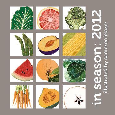 Seasonal foods weekly planner.