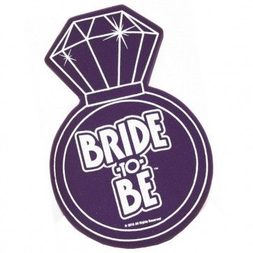 Approx. 45cm tall, this giant Bride to Be Foam ring is the must have accessory for your next hens party or bridal shower!  http://www.peckaproducts.com.au/bride-to-be-foam-ring.html