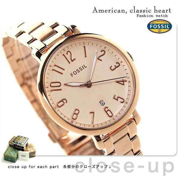 「フォッシル ジャクリーン クオーツ レディース 腕時計 ES3970 FOSSIL ローズゴールド」の商品情報やレビューなど。