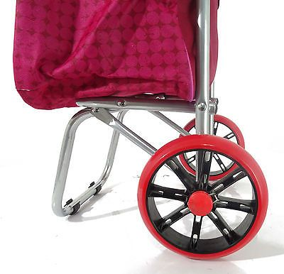 Strong Wheelie Shopping Trolley Festival Essential Folding Durable Wheeled Bag