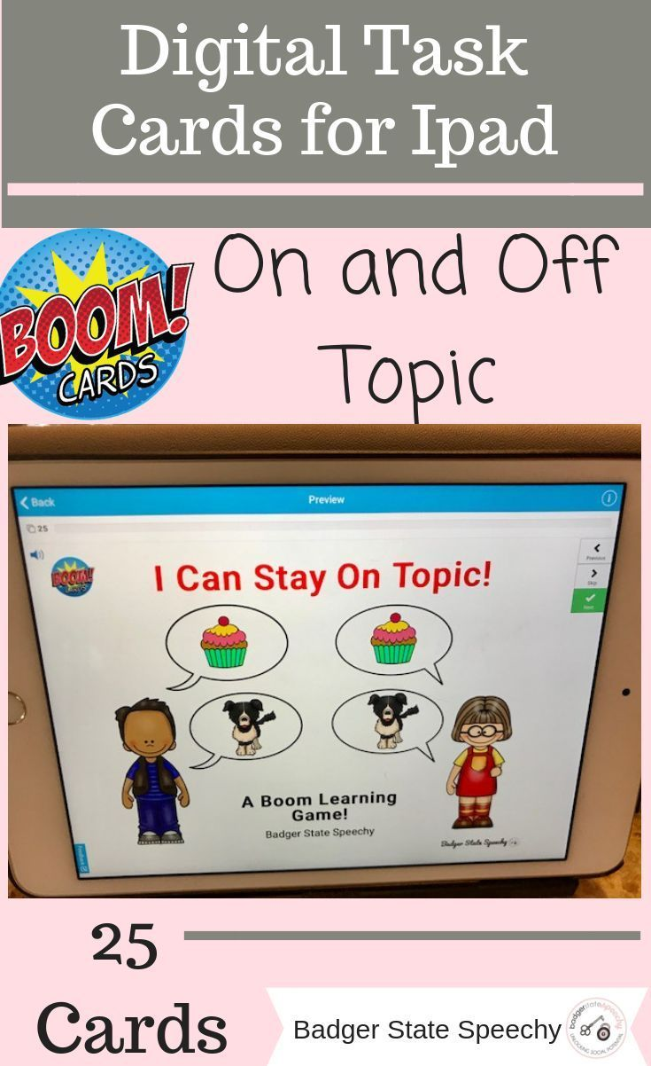 On or Off Topic? Elementary | SLP on TpT (Special Education