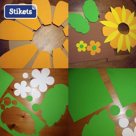 Disfraz de flor para niña con material reciclable - Imagui