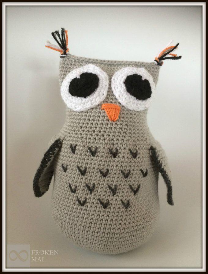 Ugle som dørstopper eller bamse - Owl as a doorstopper or a teddybear