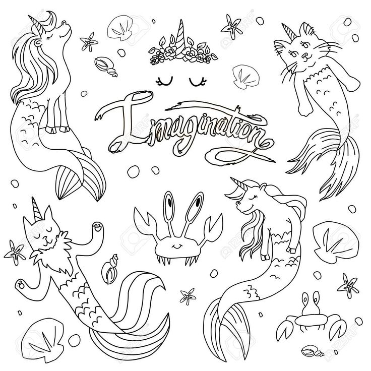 Fine Coloring Page Mermaid Unicorn that you must know, You ...