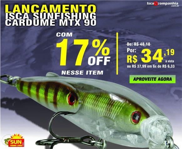 Para os pescadores mais exigentes a Cardume MTX possui design diferenciado, resistência e eficiência na série CARDUME, inovando os conceitos em iscas artificiais de alto padrão.