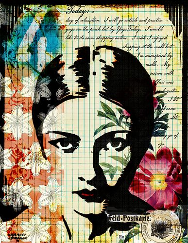 Beautiful art journal page.