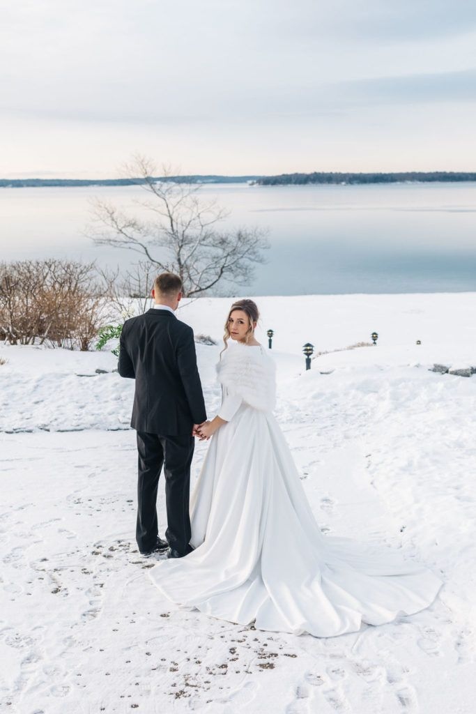 Winter Wedding Itinerary At French S Point Coastal Maine Winter Weddings Winter Wedding Venues Winter Wedding Winter Beach Weddings