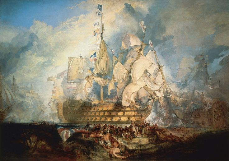 La battaglia di Trafalgar, William Turner, 1824. Olio su tela, 259×365,8 cm. National Maritime Museum, Greenwich