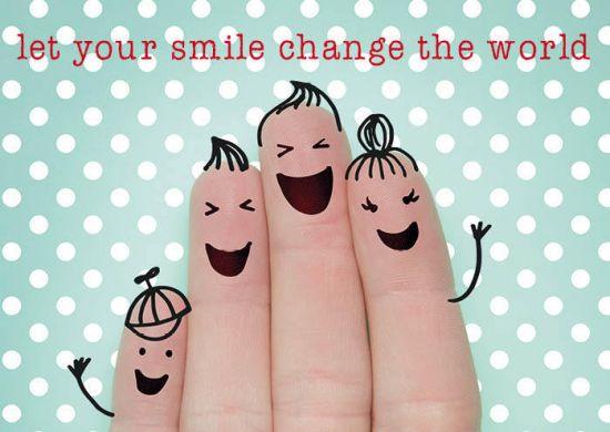 Ansichtkaarten Let your smile.. - 15x10.5 cm (10 stuks) -