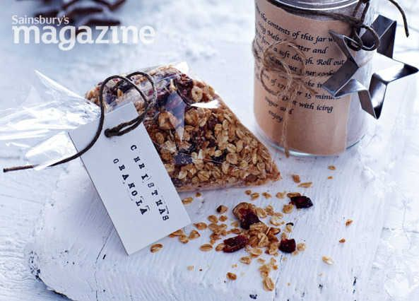 With hazelnuts and cranberries, Daid Morgan's Christmas granola from Sainsbury's magazine makes breaking your fast a festive occasion