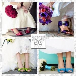 Scarpe da sposa colorate!