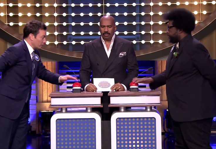 The Tonight Show Plays A Special Game of Family Feud with Steve Harvey,  Jason Segel and The Roots