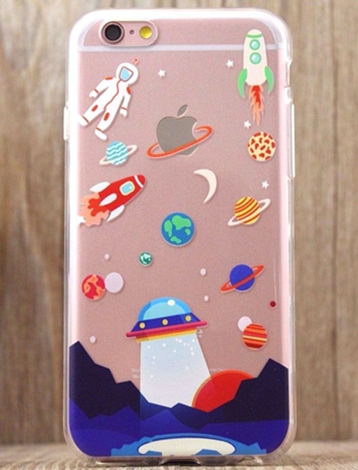 Astronaut UFO The Space Rocket CUTE iPhone 5 5S 6 6S plus Soft phone case