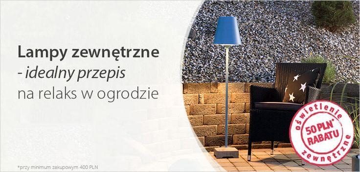 Idealny przepis na relaks w ogrodzie >>50 zł rabatu na oświetlenie zewnętrzne na Lampy.pl