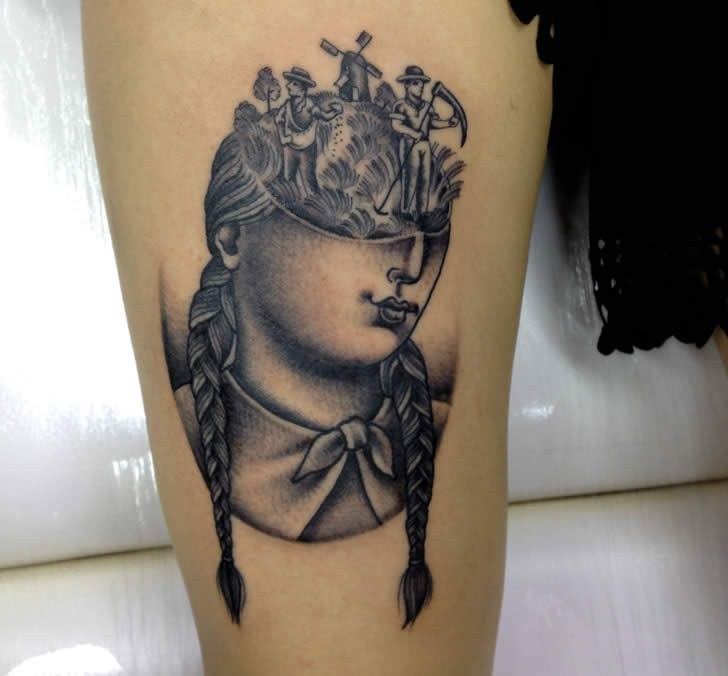 Vintage style tattoo by Sarah Carter | Body Modification ...