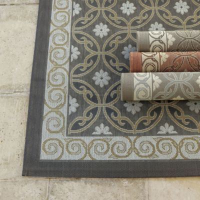 Ravello Indoor Outdoor Rug Rugs Ballard Designs Grey
