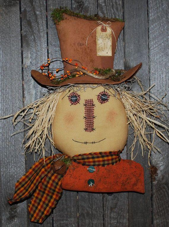 EPATTERN  Primitive Scarecrow Door Greeter by OldeAnniePrimitives, $5.00