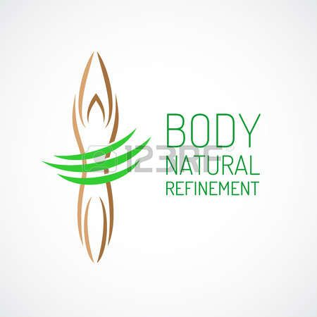 makeup logo: Cura del corpo logo modello. Vettoriali