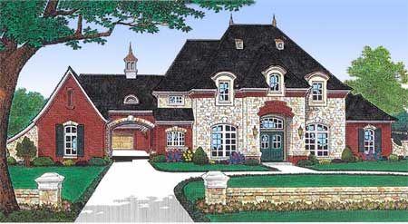 Plan 48002fm private parking courtyard house plan for House plans with drive through garage