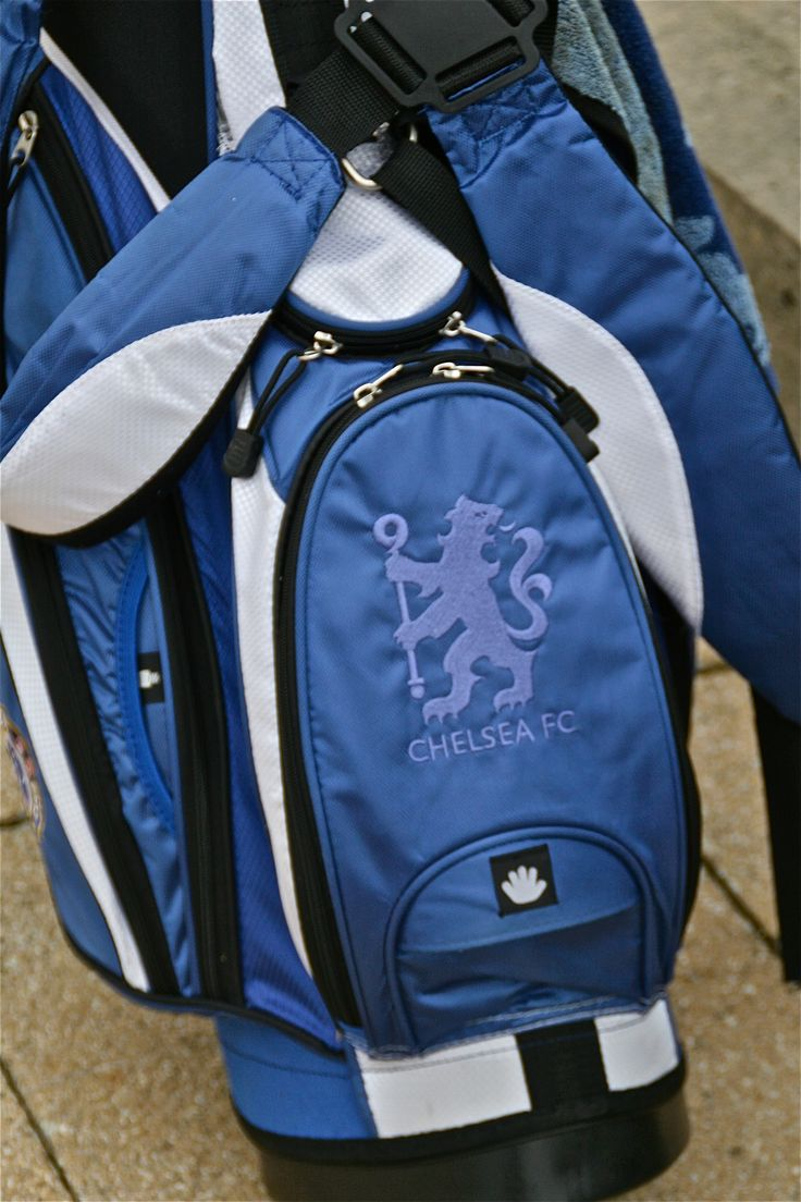 Chelsea FC golf bag - seen at St. Andrews golf course/Scotland