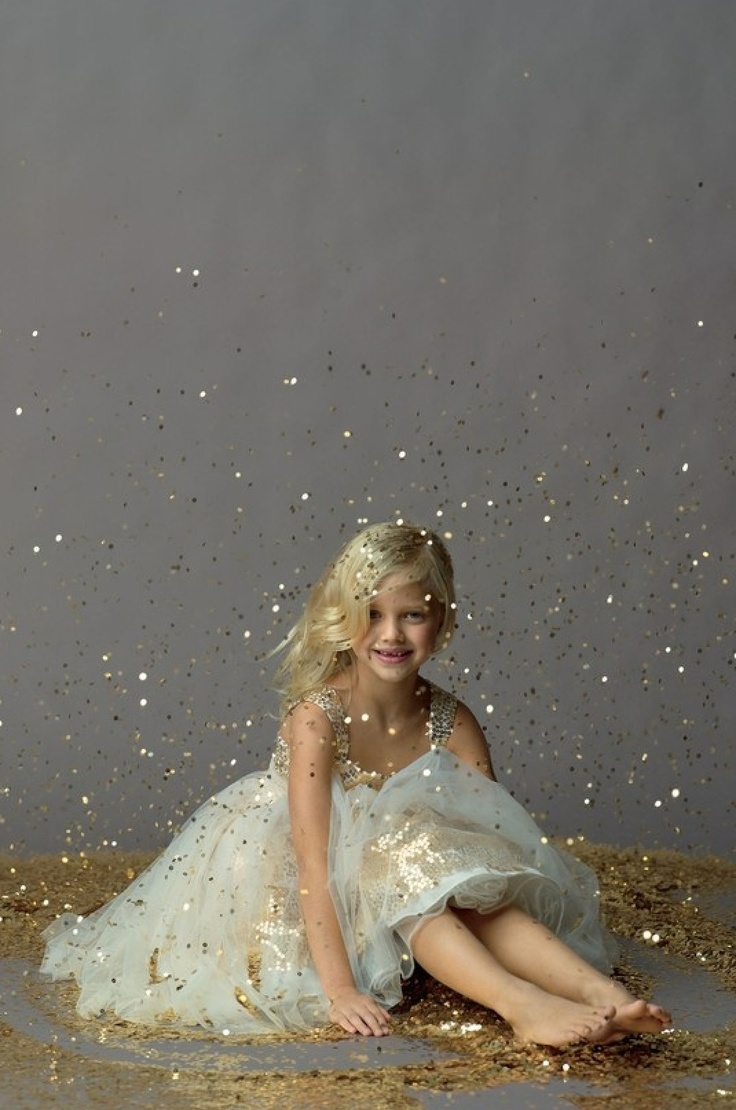 Glitter photo shoot. Super messy but cute.  Maybe out in the snow?
