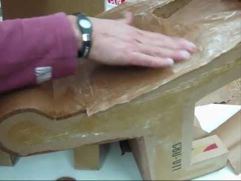 Cardboard furniture - brown paper finish