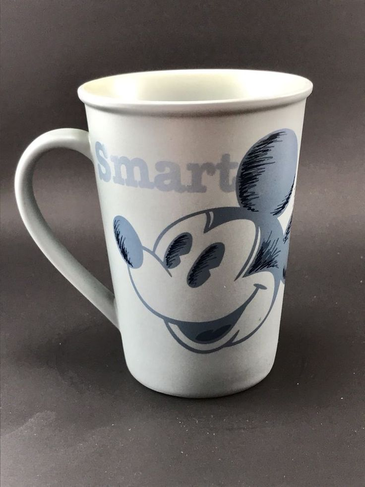 Walt Disney World Mickey Mouse Coffee Mug Blue Clever Smart Witty Brave Strong  | eBay