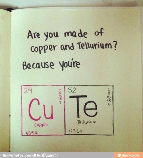 Chemistry pick-up line