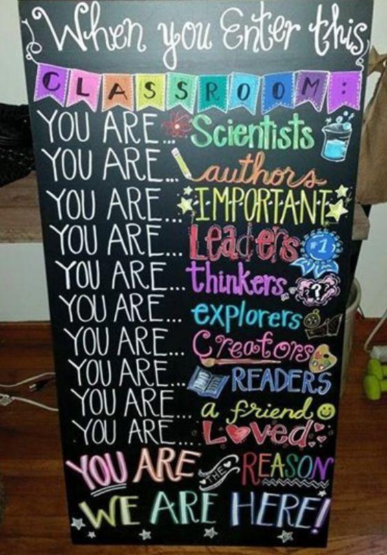 colorful classroom decor, DIY sign