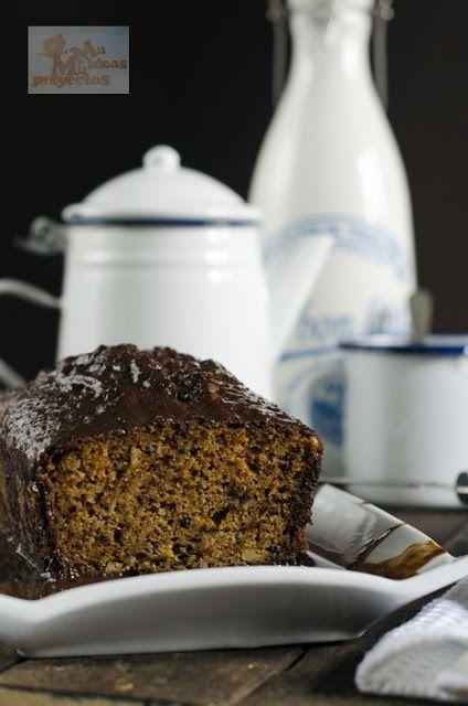 Mil Ideas Mil Proyectos: CAKE DE CALABAZA CON BAÑO DE CHOCOLATE