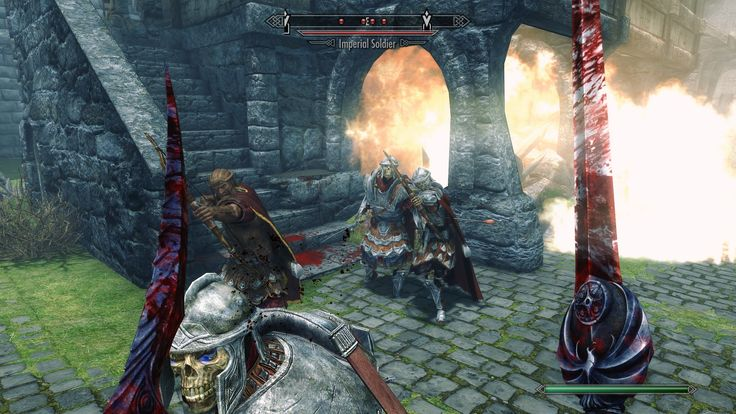 So I had an interesting glitch that had me fighting Imperial White Walkers. #games #Skyrim #elderscrolls #BE3 #gaming #videogames #Concours #NGC