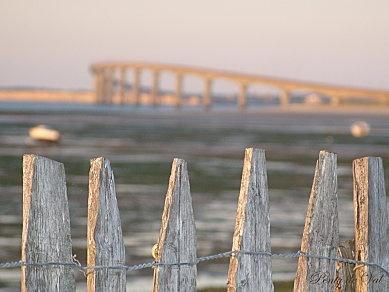 Très belle vue sur le pont de l'île de Ré | Charente-Maritime Tourisme #charentemaritime | #îledere | #pont