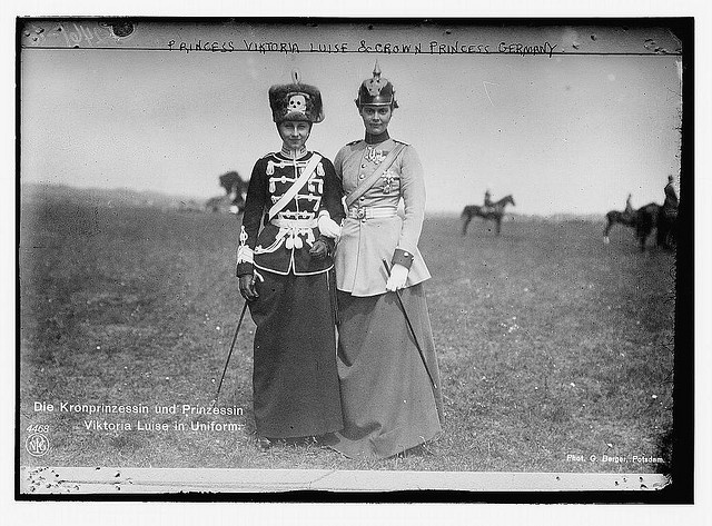 Love the hats!    Princess Viktoria Luise and Crown Princess of Germany (LOC) by The Library of Congress, via Flickr