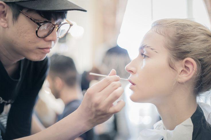 Kakuyasu Uchiide supports TEX SAVERIO F/W 2014-15 Collection  #shuuemura #parisfashionweek #beauty #makeup #texsaverio #2014AW #cosmetics