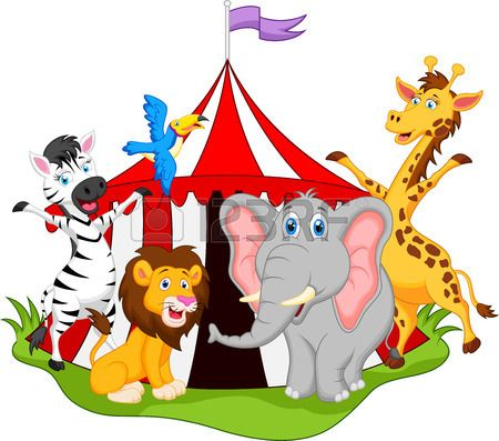 Animals in circus cartoon circo pinterest - Circo joker immagini bambini ...