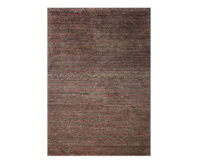 Vloerkleed Fez, grijs/rood, 160 x 230 cm