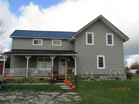 Home or hobby farm on 14 acres with hilltop views in Fenelon Falls City of Kawartha Lakes, Ontario. For Sale at $304,900.00. 229 County Rd. 121, Fenelon Falls