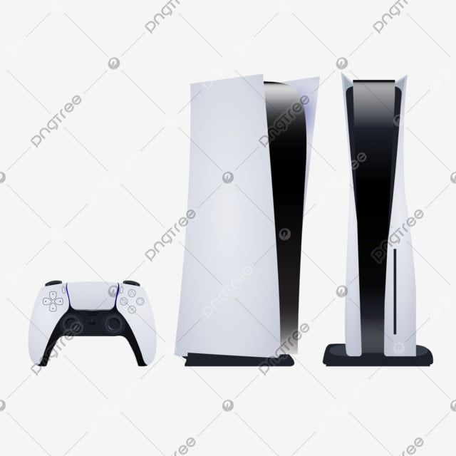 Ps 5 Or Playstation 5 Png Set With Game Controller Joystick Gamepad Object Png And Vector With Transparent Background For Free Download Game Controller Playstation Playstation Controller
