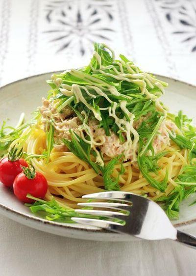 めんつゆで作る!水菜のツナおろしスパゲティ by 高羽ゆき ...