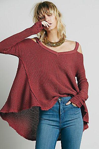 Cut Out Irregular Hem Sweater love the sweater