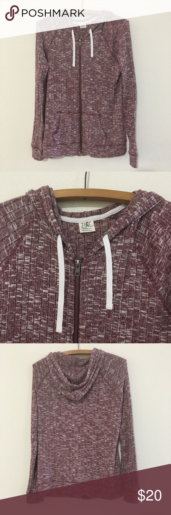 Zine Clothing Maroon & White Zip Up Hoodie Zine Clothing Maroon & White Zip Up Hoodie. Super soft & barely worn.   Size: Large    Good preloved condition.   Bundle fav items for a personal discount. Offers are always welcome, too! No trades or modeling. Thank you! (25) Zine Clothing Tops Sweatshirts & Hoodies