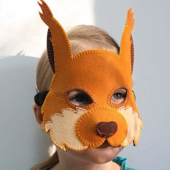 25 best masques animaux images by lolotte etquenottes on - Masque ecureuil ...