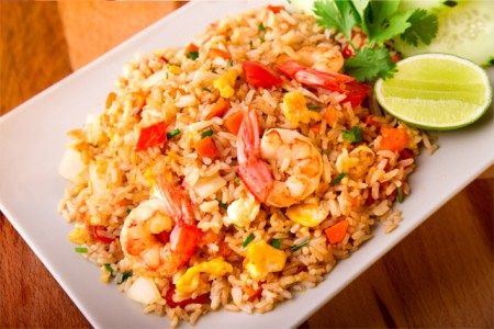 ^^  Arroz frito con gambas, arroz frito, arroz frito tailandés, cocina tailandesa