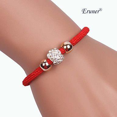 Eruner®Three beads Alloy Handmade Zircon Bracelets - USD $ 1.79