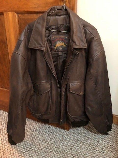 0c0374b8a Adventure Bound Mens Size XL Wilsons Leather Flight Bomber Jacket ...