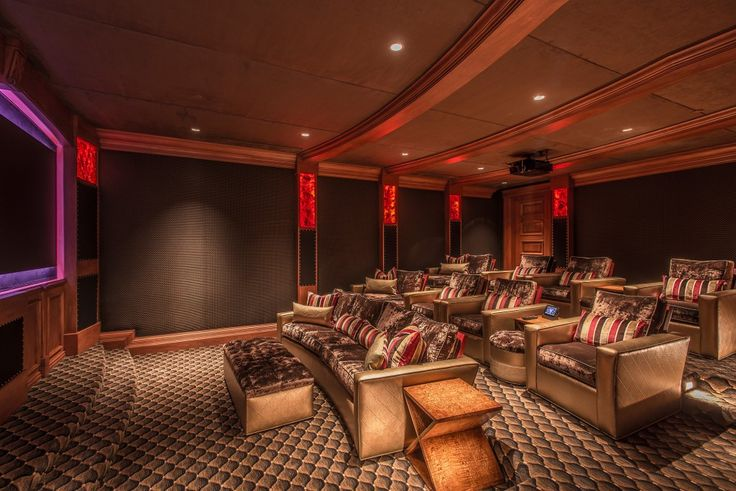 #ThrowbackThursday to a Contemporary Home Theater we designed for a #HappyClient!