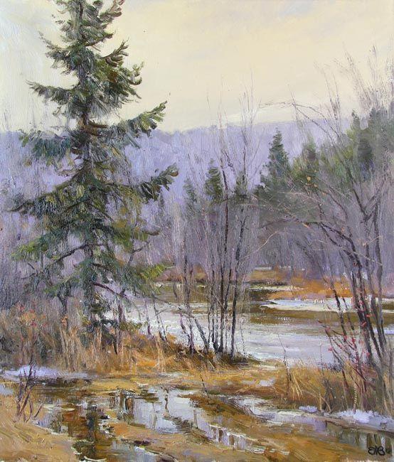 Efremov Alexey. Spring at Serga river