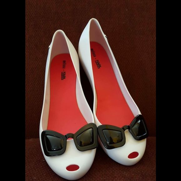Melissa Karl Lagerfeld Shoes 8 Worn indoor once. Melissa Shoes Flats & Loafers