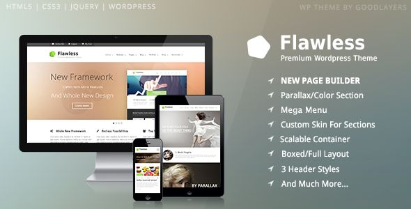 Flawless - Responsive Multi-Purpose WP Theme - Corporate WordPress